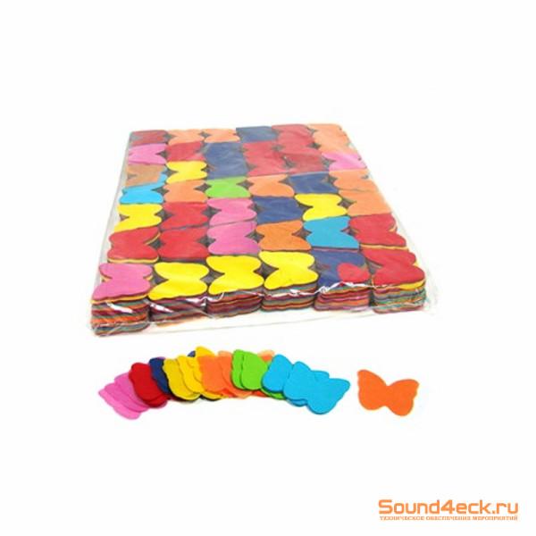 Бумажное конфетти Бабочки 5см Мультицвет