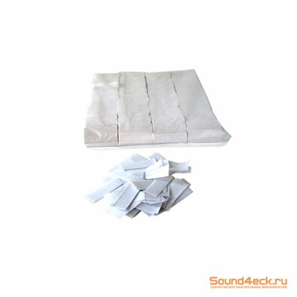 Бумажное конфетти 17х55мм Белый