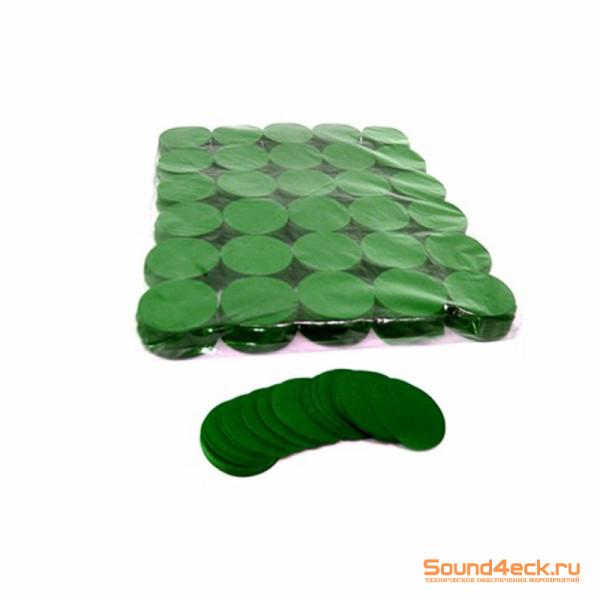 Бумажное конфетти Круглое 5см Зеленый
