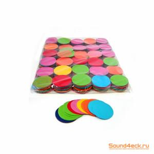Бумажное конфетти круглое 50мм