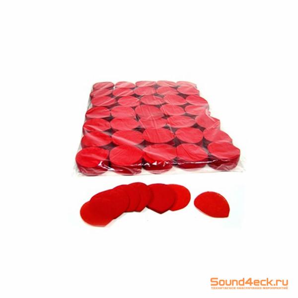 Бумажное конфетти Лепестки роз 4,1см Красный