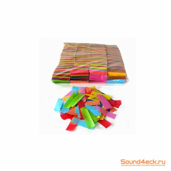 Бумажное конфетти 17х55мм Мульти