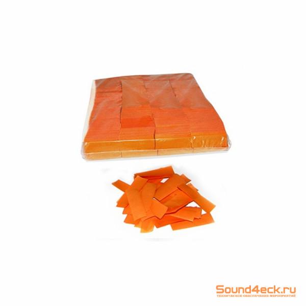 Бумажное конфетти 17х55мм Оранжевый