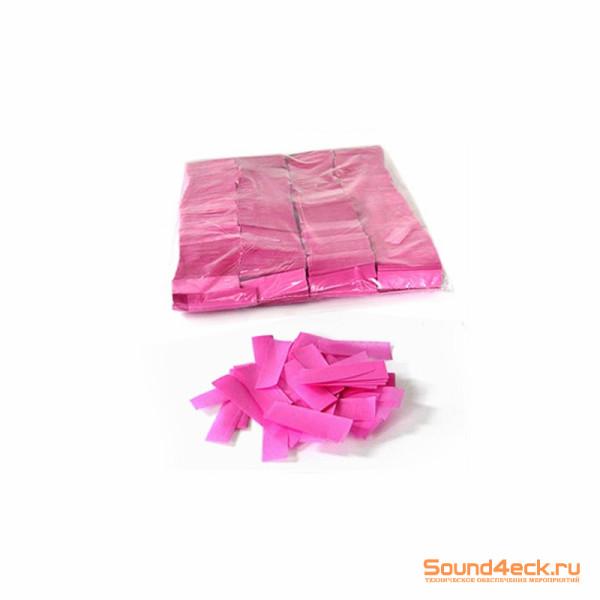Бумажное конфетти 17х55мм Розовый