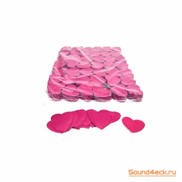 Бумажное конфетти фигурное сердечки