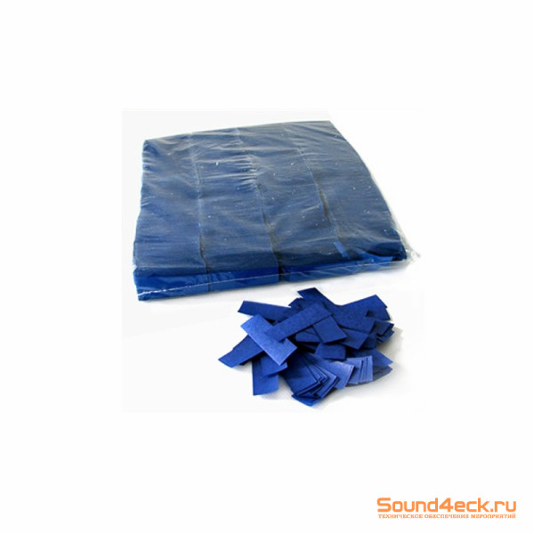 Бумажное конфетти 17х55мм Синий