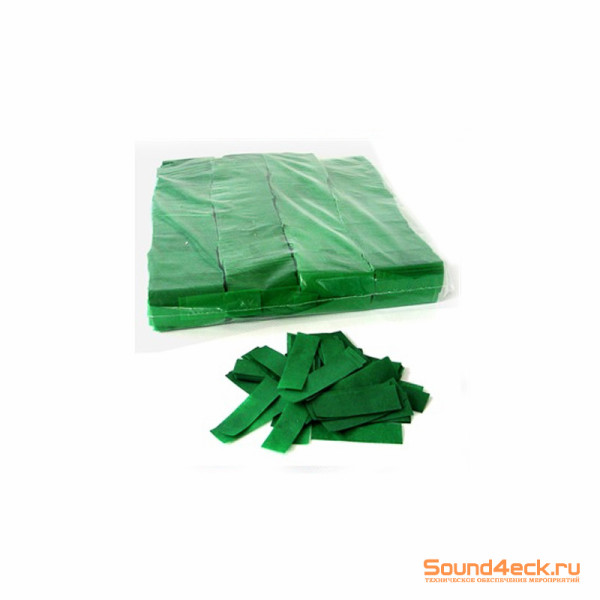 Бумажное конфетти 17х55мм Темно-зеленый