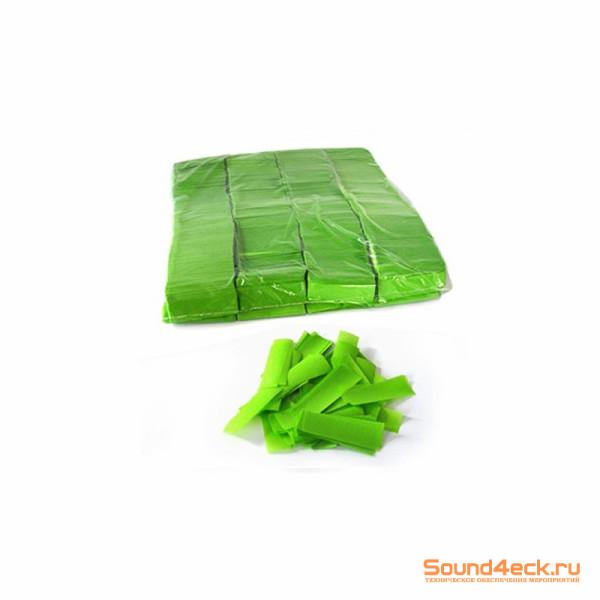 Бумажное конфетти 17х55мм Светло-зеленый