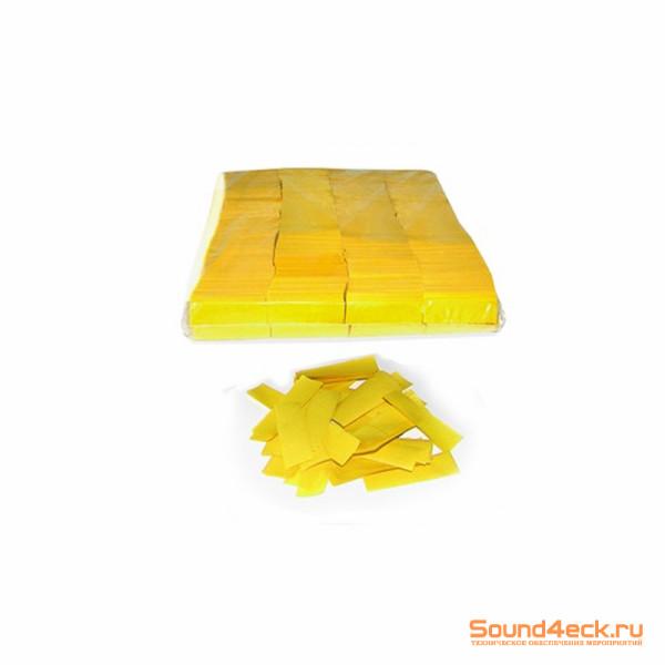 Бумажное конфетти 17х55мм Желтый