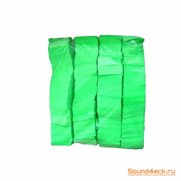 Бумажное флуоресцентное конфетти 17*55 мм Зеленый
