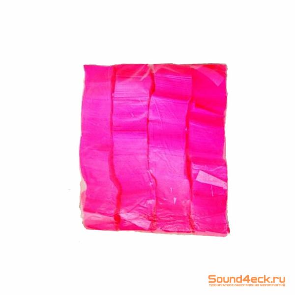 Бумажное флуоресцентное конфетти 17*55 мм Розовый