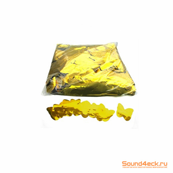 Металлизированное конфетти Бабочки 4,1см Золото