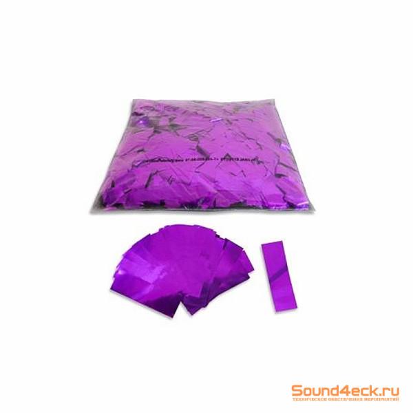 Металлизированное конфетти 17х55мм Фиолетовый