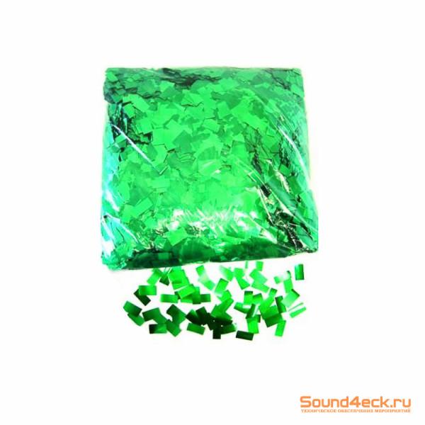 Металлизированное конфетти 10x20 мм Зеленый