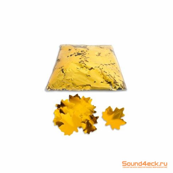 Металлизированное конфетти Клен 5см Оранжевый