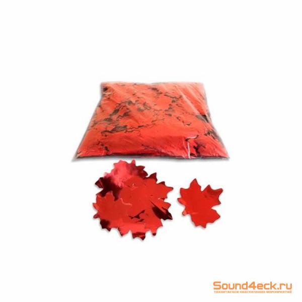 Металлизированное конфетти Клен 5см Красный