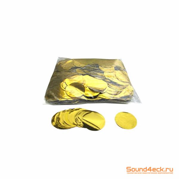 Металлизированное конфетти Круг 4,1см Золото