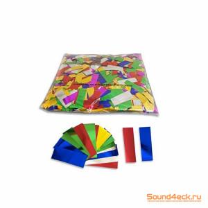 Металлизированное конфетти прямоугольное 17х55мм