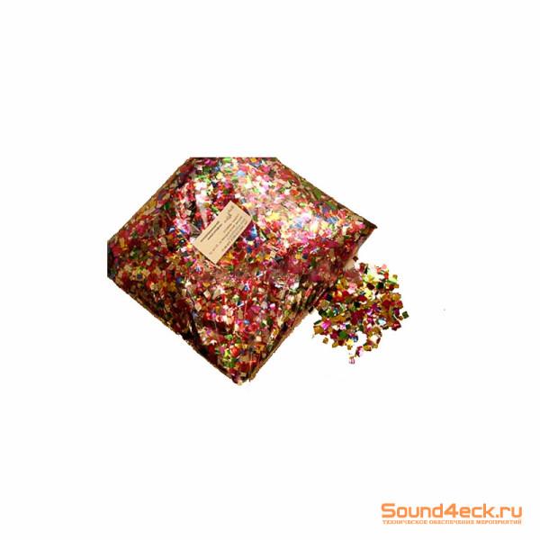 Металлизированное конфетти 6х6мм Мульти