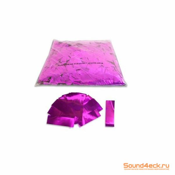 Металлизированное конфетти 17х55мм Розовый