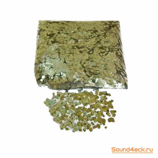 Металлизированное конфетти 6х6мм Серебро