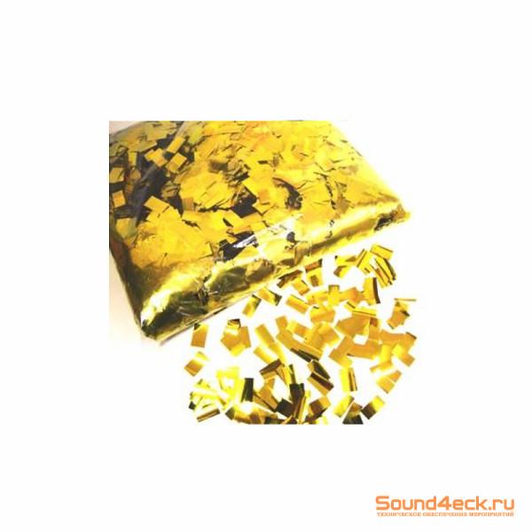 Металлизированное конфетти 10х20мм золото