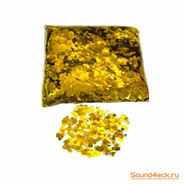 Металлизированное конфетти 6х6мм Золото
