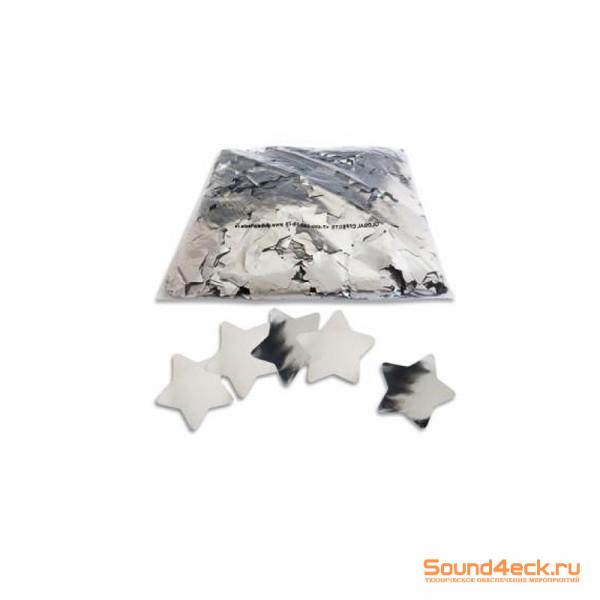 Металлизированное конфетти Звезды 4,1см Серебро